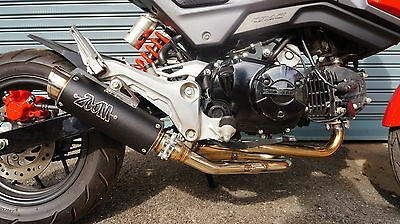 ZOOM EXHAUST HONDA Grom 125 MSX 125SF 2013-2019 Full System Low Mount Black  SLZ