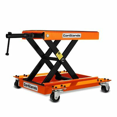 Motorcycle Scissor Jack + Dolly Mover ConStands Lift M Motorbike orange