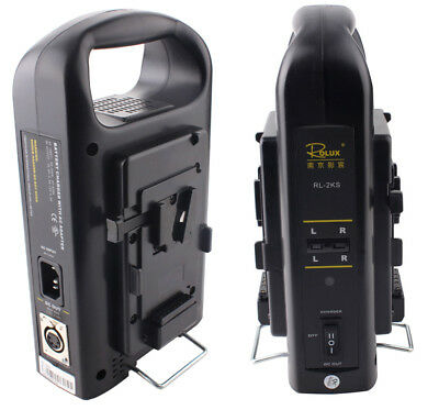 Rolux Sony V-mount Lock Li-ion Battery Dual Channel Power Charger RL-2KS DC Out