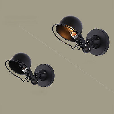 Vintage Retro Industrial Loft Swing Arm Wall Light Lamp Sconce Lampshade Fixture