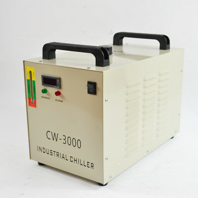 220V CW-3000DG Thermolysis Industrial Water Chiller for 60 / 80W CO2 Glass Tube