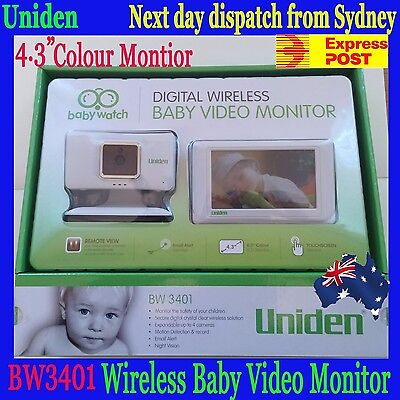 Uniden BW3401 Wireless 4.3'' Baby Video Monitor Night Vision -$8 upgarde Express