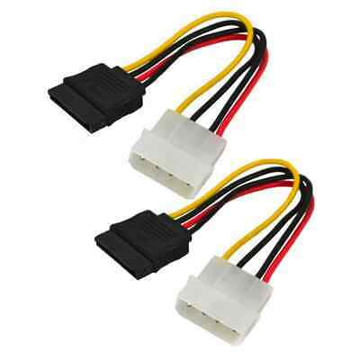 15 Pin SATA Female to Molex IDE 4 Pin Male Power Adapter Extension Cable