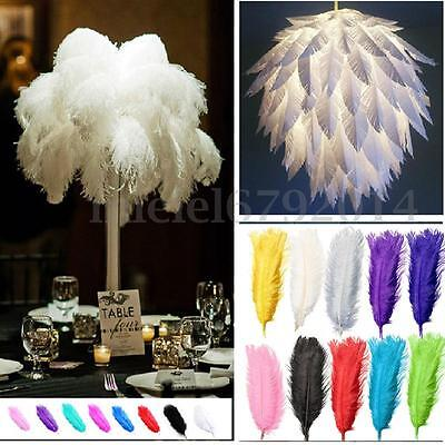 5/10x Long Natural Large Ostrich Feathers Party Wedding Craft Decorations 20~22""