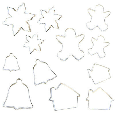 Stainless Steel Christmas Cookie & Pastry Cutters / Icing Mould - Snowflake