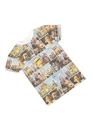 Official Licensed Kids Girls / Boys Minions All Over Print T-shirt Top Age 8-13