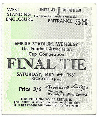 1961 - Leicester City v Tottenham Hotspur, FA Cup Final Match Ticket.