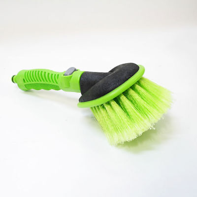 Soft Car Cleaning Brush Hose Connector Flow Through Wash Body Wheel Window Water