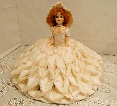 """Vintage 1960s 8"""" Tall One-Of-A-Kind Dolls of the World Handmade Dress & Hat"""