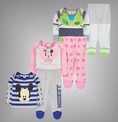 Unisex Baby Branded Character 2 Pieces Pyjama Set Top Trousers Size 0-24 Mnth