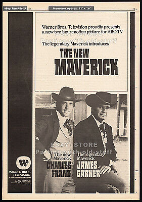 THE NEW MAVERICK__Original 1978 Trade AD / TV promo__JAMES GARNER__CHARLES FRANK