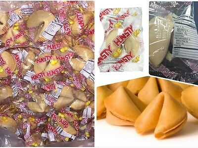 HUNSTY Fortune Cookies FRESH STOCK, 15,30,45,100,200,350 pcs W/ Nutrition Facts