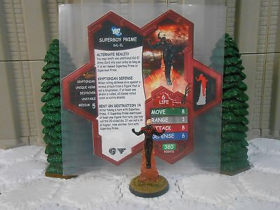 Heroscape Custom Superboy Prime Double Sided Card & Figure w/ Sleeve DC