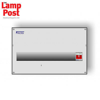 Protek MIS-018 18 Way Metal IP41 Consumer Unit With 100A Switch Incomer **SALE**