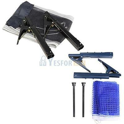 Table Tennis Ping Pong Net with Post Clamp Set Training Competition Replac #3YE