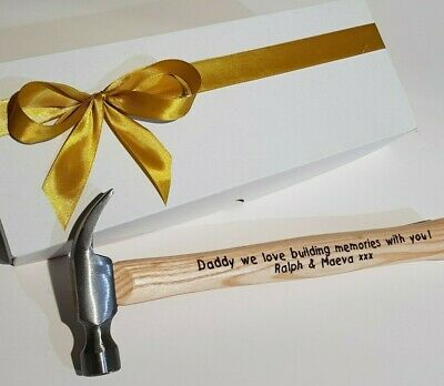 Fathers Day Personalised Engraved Hammer Gift Father's Grandpa Dad Man Present