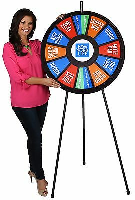 """31"""" Insert Your Own Graphics Prize Wheel with 12-24 Slots on a Floor stand"""