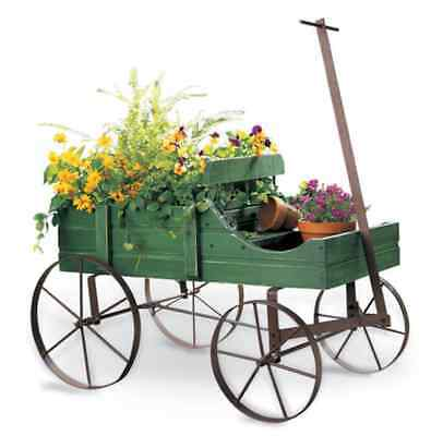 Country Wagon Garden Planter, Rustic Wood, Flowers; Great Christmas Gift!