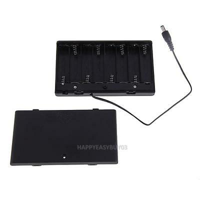 1x 8 AA Cells Battery 12V Clip Holder Box Case w/ Cover ON/OFF Switch Wire Lead
