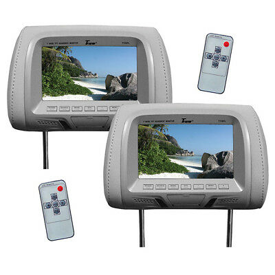 TVIEW  Tview 7 TFT/LCD Car Headrest with MonitorPair Gray