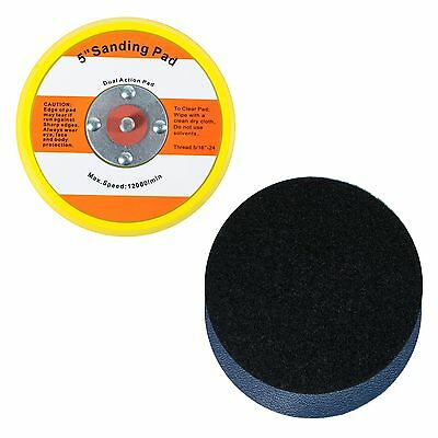 "5"" Hook and Loop Sanding Pad 5/16""-24 with 1pc Loop to PSA Vinyl Conversion"