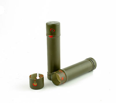 EDC Small Metal Steel Army Tube Container Surplus Ex Army Capsule survival