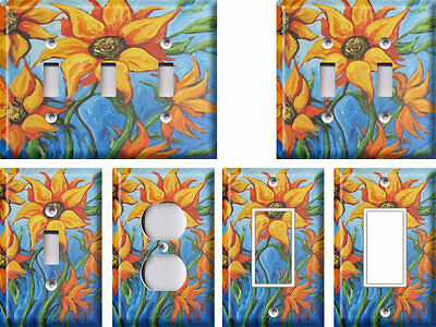 Mediterranean Sunflowers - Light Switch Covers Home Decor Outlet