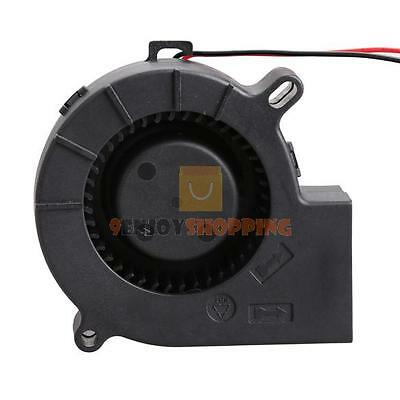 Brushless DC 12V 0.18A Blower Cooler Cooling Fan Sleeve-Bearing 7525S 75x