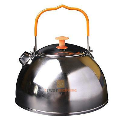 0.6L Outdoor Camp Picnic Cookware Mini Teapot Stainless Steel Kettle Coffe JF#E