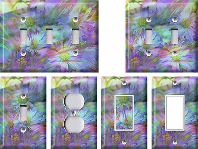 Pastel Flowers - Light Switch Covers Home Decor Outlet