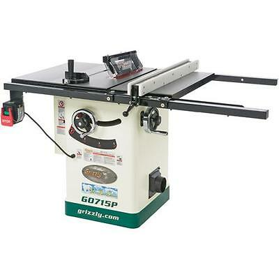 "G0715P Grizzly 10"" Hybrid Table Saw with Riving Knife, Polar Bear Series"