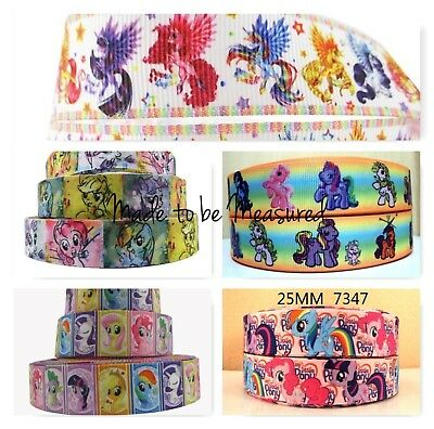 Grosgrain Ribbon - 7/8 & 1 Inch - Print by the Metre - MLP My Little Pony