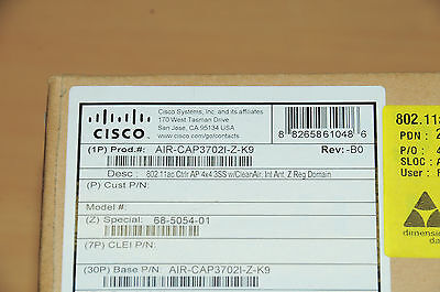 **BRAND NEW** CISCO AIR-CAP3702I-Z-K9 Wireless Access Point 6MthWtyTaxInv