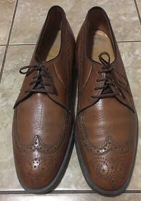 Mens Rare VTG French Shriner Brown Leather Wing Tip Shoes size 10B