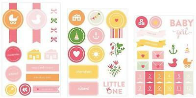 PROJECT LIFE ~ Chipboard Stickers ~ Baby Girl Edition ~ 52 pieces 380526