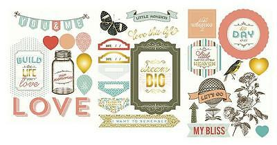 PROJECT LIFE ~ Chipboard Stickers ~ Adventure Edition ~ 33 pieces 380450