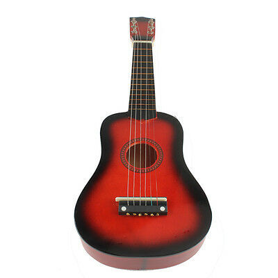 "21"" 6 String Red Ukulele Acoustic Guitar Beginners Red Musical Instrument Child"