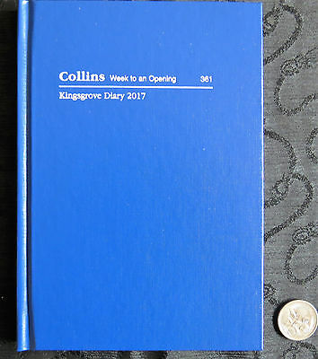 2017 Diary Collins Kingsgrove A6 361 Week to View Hardcover Casebound Royal Blue