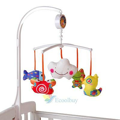 Baby Cot Bell Crib Mobile Rattle Bed Hanging Toy Complete Set Holder Musical Toy