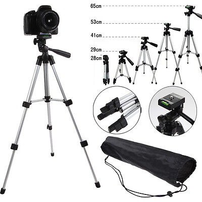 Flexible Aluminum Tripod Stand Holder Mount+Bag For Canon Nikon Camera Camcorder