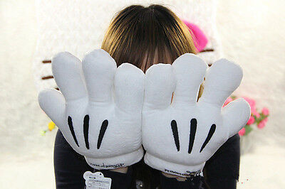 New Men/Women Disney Minnie Mickey Mouse Costume Cosplay Party Gloves Pair