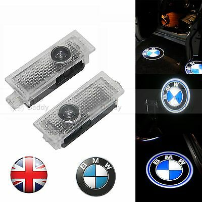 4X LED Courtesy Laser Welcome Projector Logo Shadow Car Door Light Lamp For BMW
