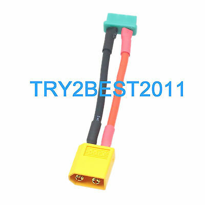 XT60 Female To 80mm Alligator Clip Clamp Charger Cable 14AWG 25CM Wire
