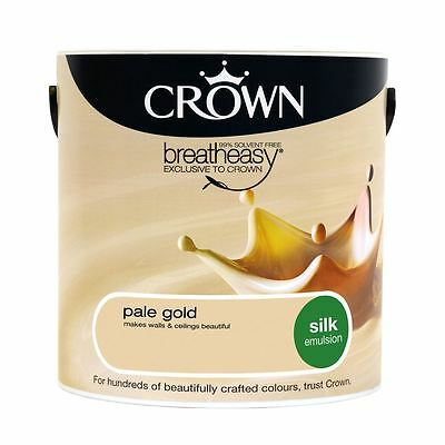 Crown Breatheasy Silk Emulsion Paint 2.5L Pale Gold