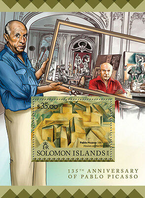 Solomon Islands 2016 MNH Pablo Picasso 1v SS Houses on Hill Art Paintings Stamps
