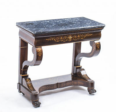 Antique Charles X Period Rosewood Inlaid Console Table c.1830