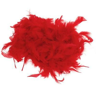 FANCY DRESS UP BOA DI PIUMA 200CM BURLESQUE SHOWGIRL hen night partito rosso