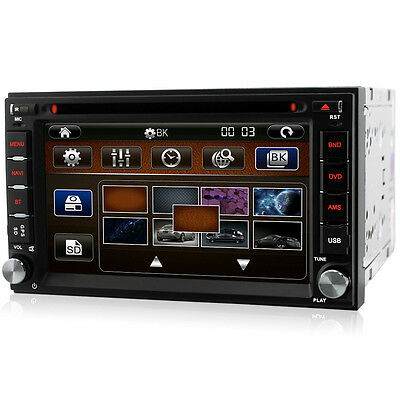 "6.2"" Double 2 Din sat nav WiFi car stereo Bluetooth USB FM Radio GPS DVD Player"