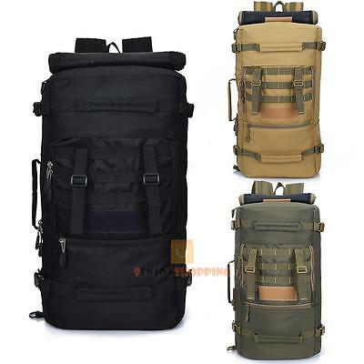 50L Outdoor Tactical Molle Military Rucksacks Backpack Travel Camping Hiking Bag