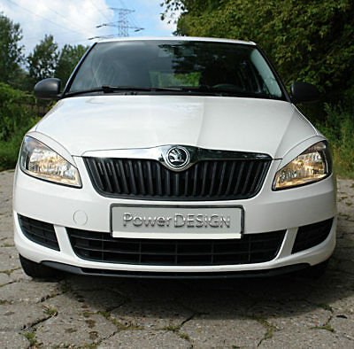 Eyebrows for SKODA FABIA 2 II 2010-2014  headlight eyelids lids ABS Plastic